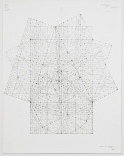 "Mark Reynolds - ""Minor Third Series: The Presence of Three Orders, 11.17,"" 2017, Graphite on cotton paper, 19 x 15 inches"