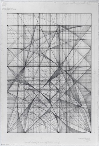 The 1.111 Series: Ode to John Cage, 2.13 - 2013, Graphite on cotton paper, 22 x 15 inches