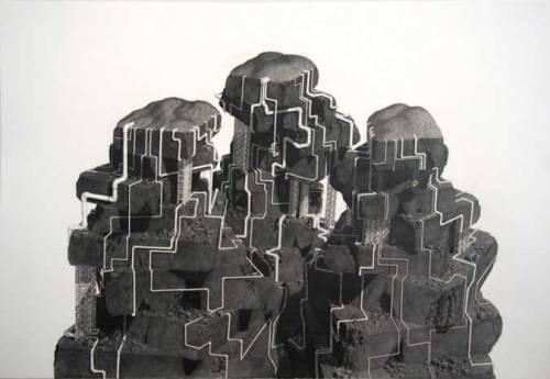 Black Rock Forest Preserve - 2008, Graphite on Paper, 41 x 59.75