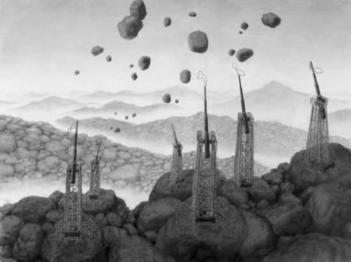 Mist - 2008, Graphite on Paper, 11.75 x 15.5 inches