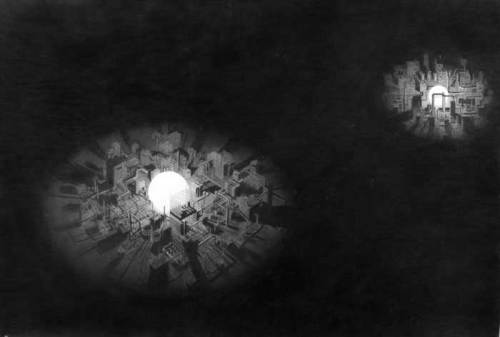 Remaking the Night Sky - 2008, Graphite on Paper, 41.25 x 59.75
