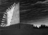 Eidophusikon - 2011, Graphite on paper, 22 1/4 x 30