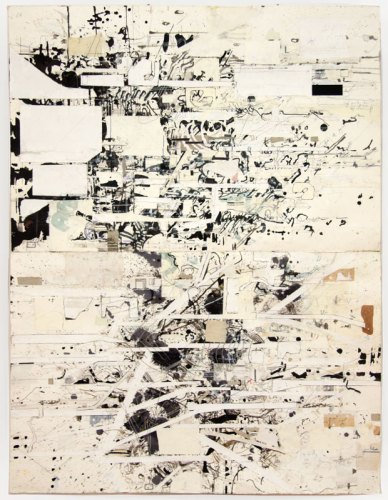 David Scher - Untitled, Mixed media on paper, 52.5 x 40 inches