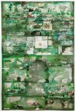 """David Scher - """"The Gardens of Buggerall,"""" 2014, Mixed media on cotton paper, 59.5 x 39.75 inches"""