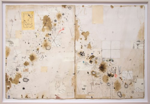 """David Scher - """"Untitled (DS045),"""" 2012, Mixed media on paper, 47.5 x 32.74 inches"""