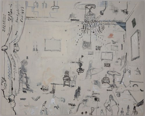 Untitled -  2010, Oil-base enamel and graphite on linen, 48 x 60 inches