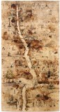 Untitled (Scroll) - 2008, Mixed media on paper, 75.75 x 39.75 inches