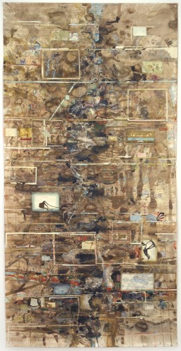David Scher - Untitled (Scroll 2020), 2020, Mixed media on paper