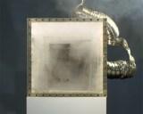 "Jonathan Schipper - ""Exploding Box,"" 2015, Plexiglass, gunpowder, steel, exhaust vent, 14 x 14 x 14 inches each (set of 7)"