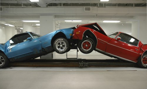 "Jonathan Schipper - ""The Slow Inevitable Death of American Muscle,"" 2007-2009, Mixed Media, Dimensions variable, Multiple of 3"