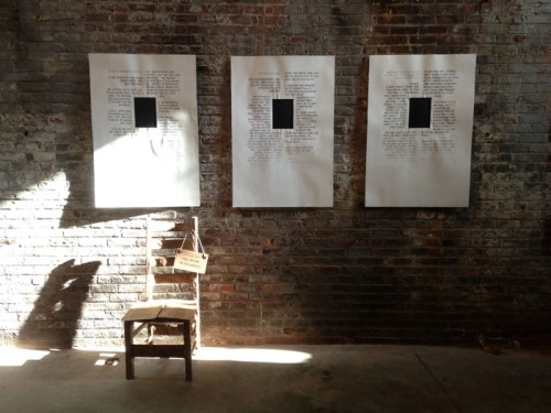"Ward Shelley - Destruction of ""I Am a Hunger Artist,"" 2015, Installation, drawings, performance"