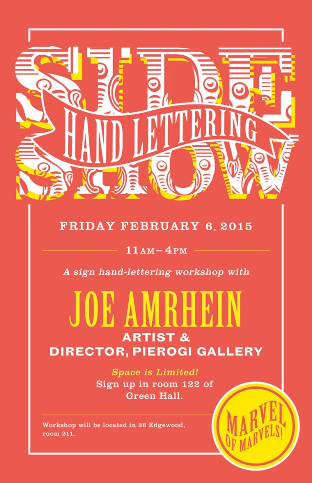 Sideshow Sign-Lettering Workshop Flyer
