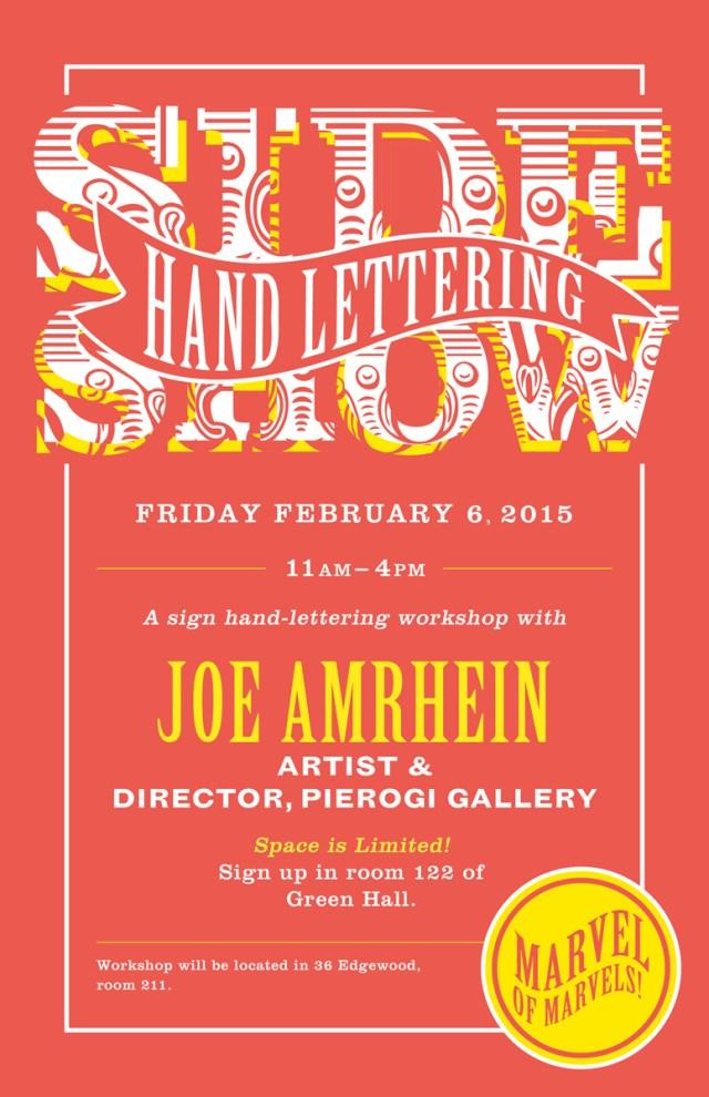 Sideshow Sign-Lettering Workshop Flyer