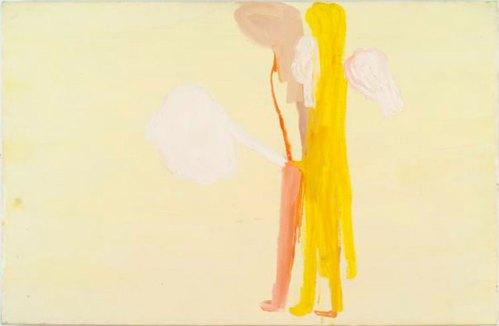 """Amy Sillman - """"Letters from Texas (19),"""" 2003, Oil on canvas, 26 x 40 inches."""