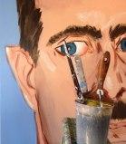 "no title - Jonathan Grossmalerman, ""Assad (large),"" Acrylic on canvas"