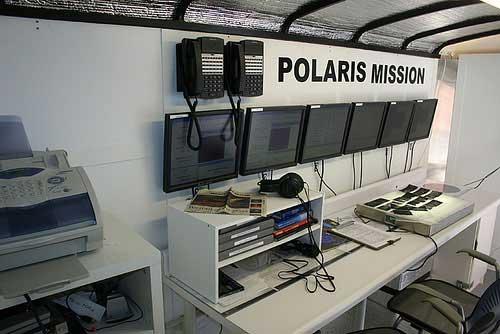 Polaris 2 - 2008, Trailer, computers, coal, tar, robotic rover, cameras, sound system, data transmitter
