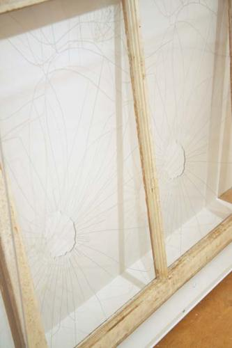Passage Ways (Dislocated remnants from simultaneous events, #5, Providence, RI - 2007, Wood, Plexi-glass, paint