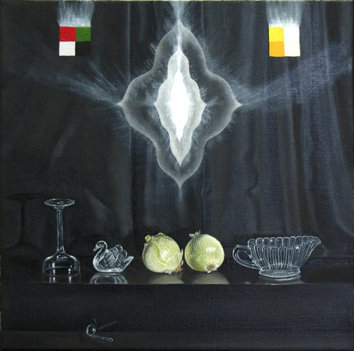 "Lynn Talbot - ""Ghost Among the Living,"" 2011, oil on linen, 12 x 12 inches"