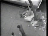 "Drunk on Mattress - Still from video ""Atlantic in Brooklyn,"" 1971-72. Collection of the artist."
