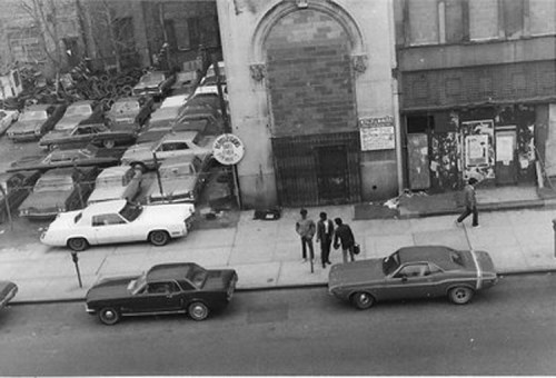 Three Men On the Sidewalk - 1971-1972. Black and white photograph. Collection of the artist.