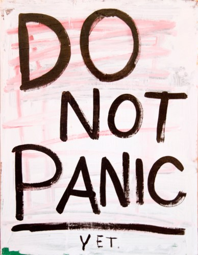 "Jim Torok - ""Do Not Panic,"" 2016, Acrylic on canvas, 24 x 18 inches"
