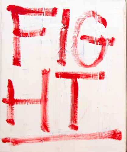 "Jim Torok - ""Fight,"" 2016, Acrylic on canvas, 20 x 16 inches"