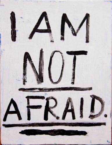 "Jim Torok - ""I Am Not Afraid,"" 2016, Acrylic on canvas, 24 x 18 inches"