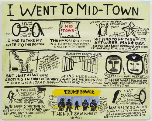 """Jim Torok - """"I Went to Midtown,"""" 2016, Acrylic on Canvas, 16 x 20 inches"""