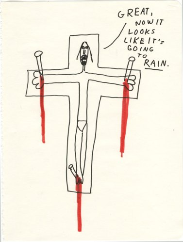 Rain - 2013, Ink and colored pencil on paper, 9.75 x 7.5 inches