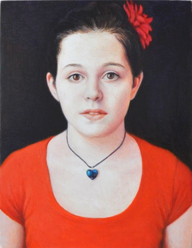 "Jim Torok - ""Mimi Cantwell,"" 2014, Oil on wood panel, 4 15/16 x 3 7/8 inches"