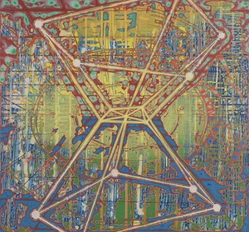 Extrapolator - 2010, Acrylic on Panel, 26 x 28 inches