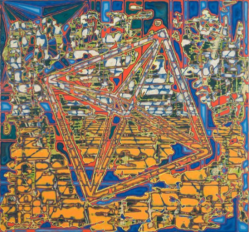 Points Without Planes - 2010, Acrylic on Panel, 26 x 28 inches