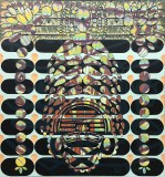 "Sarah Walker - ""Waveform Entity,"" 2021, Acrylic on linen, 52 x 48 inches"