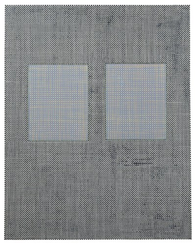 168 (bgb) - 2009, Acrylic and Graphite on Canvas, with Removed and Replaced Areas, 30 x 24 inches