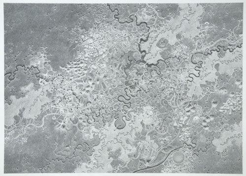 "Daniel Zeller - ""Delusional Encapsulation,"" 2014, Graphite on paper, 22 x 30 inches"