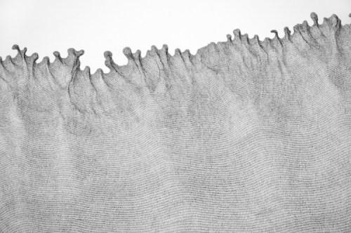"Daniel Zeller - ""SitA"" (Detail), 2015, Ink on paper, 30 x 37 inches"