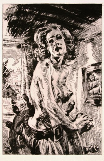 """""""Adrift,"""" 2004, drypoint on paper, #3/10, 15 x 11 inches"""
