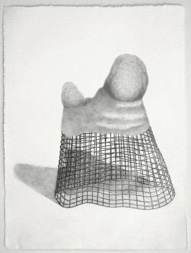 Peaked Cage - 2011, Graphite on paper, 23 3/4 x 17 3/4 inches