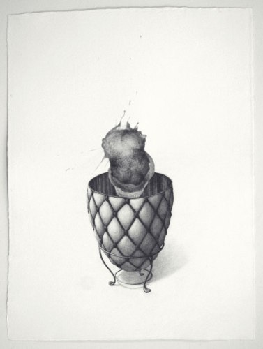 Fabergé Egg - 2011, Graphite on paper, 39 1/2 x 29 1/2 inches