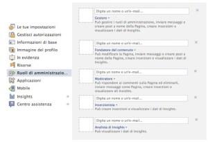 nuovi ruoli pagine facebook