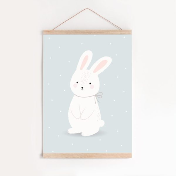 AFFICHE-LAPIN-BE-KIND-MUR-cadre-950x950