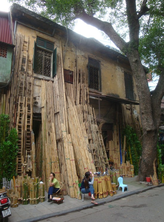 Marché aux bambous - Hanoi