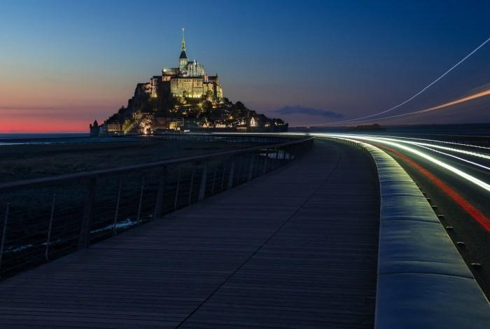 Trainées lumineuses au Mont-Saint-Michel | Normandie © Pierre ROLIN - Photographe Nancy - Lorraine / Grand Est