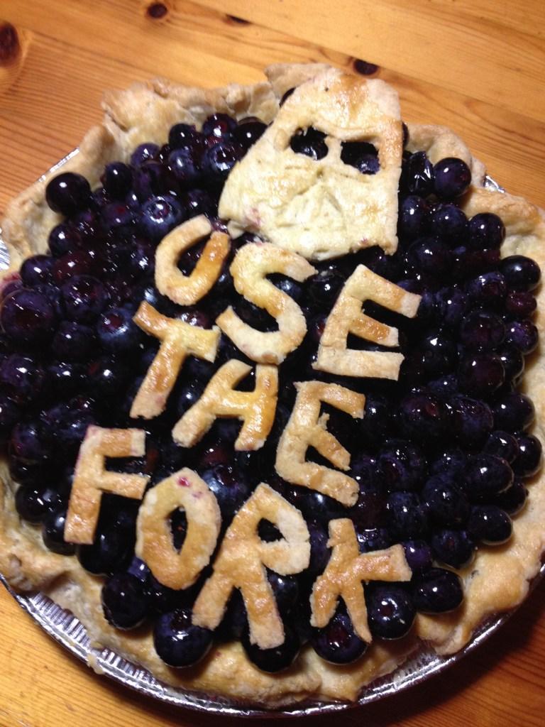 Fresh Blueberry Star Wars Darth Vader Pie