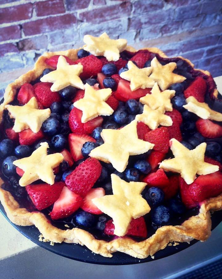 Fresh Berry Fourth of July Pie