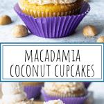 Macadamia Coconut Cupcakes