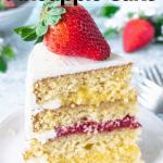 Strawberry Pineapple Cake slice