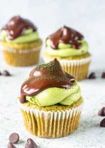 Matcha Chocolate Chip Cupcakes