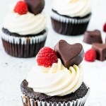White and Dark Chocolate Raspberry Cupcakes