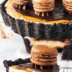 Chocolate and Dulce de Leche Cheesecake Pie